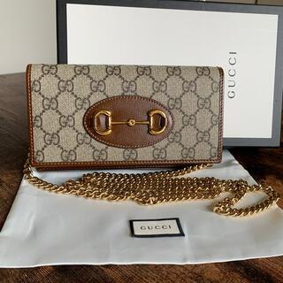 Gucci - GUCCI ホースビットチェーン付きウォレット新品未使用