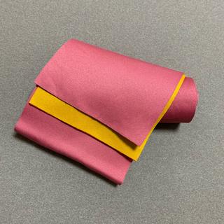 【値引】浴衣 帯 黄色 ピンク(浴衣帯)