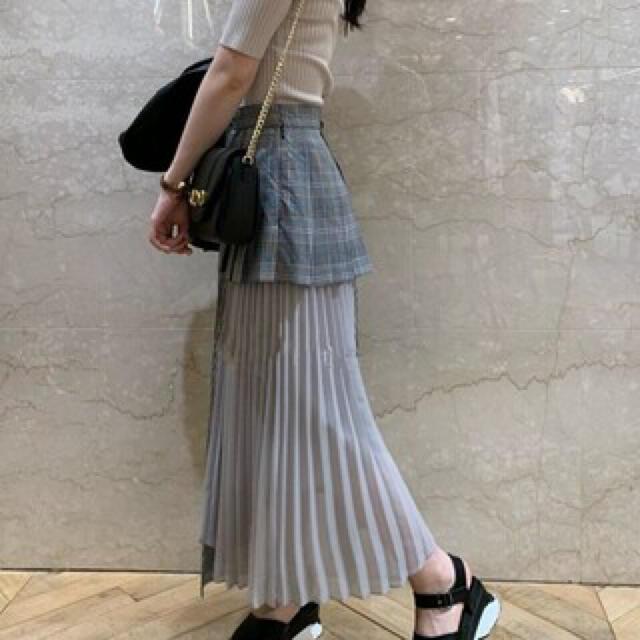 snidel(スナイデル)の【美品】スナイデル スイッチングプリーツスカート レディースのスカート(ロングスカート)の商品写真