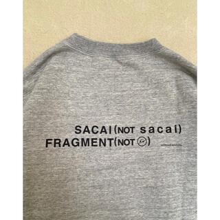 sacai - sacai x fragment  スウェットクルー Mサイズ 新品未使用