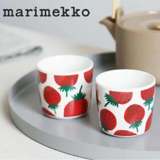 marimekko - 《新品未使用》マリメッコ コーヒーカップセット  マンシッカ 2個セット