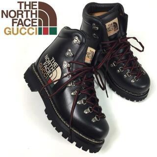 グッチ(Gucci)のGUCCI THE NORTH FACE マウンテンブーツ(7.5)黒21026(ブーツ)