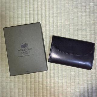 ホワイトハウスコックス(WHITEHOUSE COX)のホワイトハウスコックス ブラック レッド 財布(折り財布)