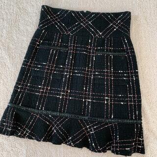 シャネル(CHANEL)のCHANEL ツイードスカート(ミニスカート)