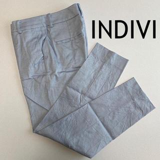 インディヴィ(INDIVI)の【INDIVI】マシンウォッシュ/UV ストレッチテーパードパンツ(カジュアルパンツ)