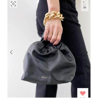 L'Appartement DEUXIEME CLASSE - 【DEMELLIER LONDON】hand bag with chain 黒
