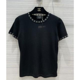 CHANEL - CHANEL CCロゴ 黒  セーター M