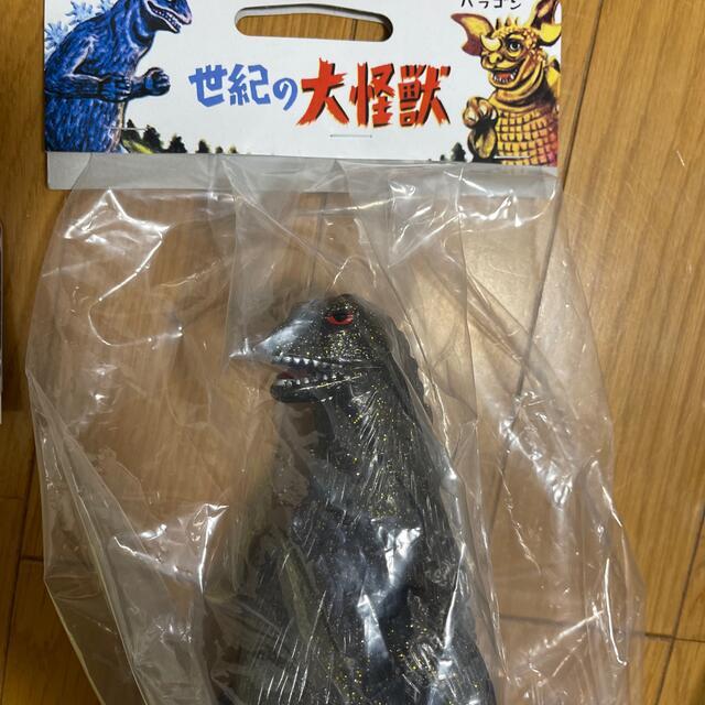 MEDICOM TOY(メディコムトイ)の当選品セット ビンテージソフビゴジラ とクラシックゴジラ350モスラ幼虫セット エンタメ/ホビーのフィギュア(特撮)の商品写真