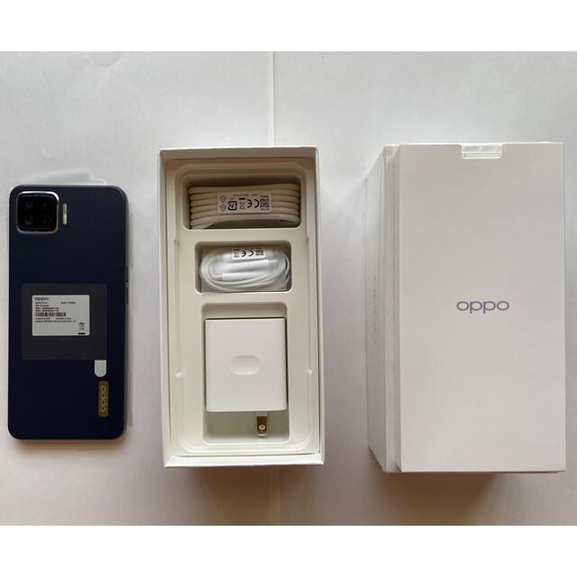 OPPO A73  ネービーブルー 新品未使用品 楽天 送料無料 スマホ/家電/カメラのスマートフォン/携帯電話(スマートフォン本体)の商品写真