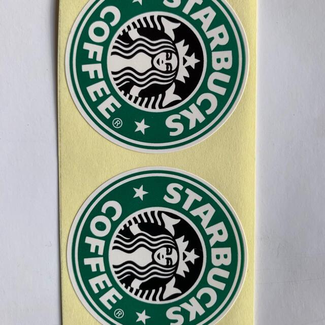 Starbucks Coffee(スターバックスコーヒー)のスターバックス ロゴ ラベル ステッカー 2枚 エンタメ/ホビーのコレクション(ノベルティグッズ)の商品写真
