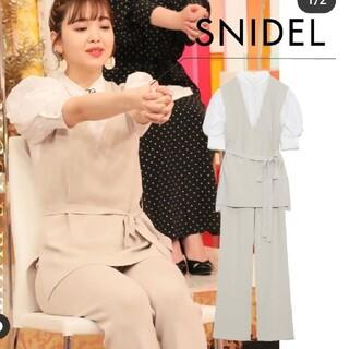 snidel - SNIDEL スナイデル ニットベストブラウスセットアップ 藤田ニコル着用 新品