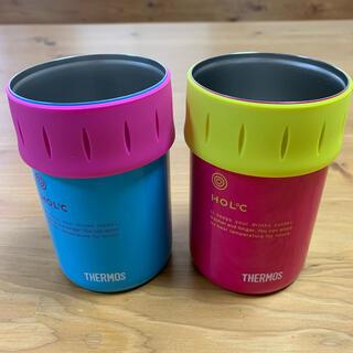 サーモス(THERMOS)のサーモス 缶ホルダー 缶クーラー 2個セット(食器)