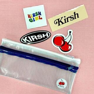 【新品】『KIRSH』クリアペンケース&ロゴステッカー(ペンケース/筆箱)