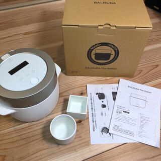 BALMUDA - バルミューダ炊飯器 3合炊きThe Gohan ホワイト中古 消耗品新品交換済み