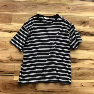 UNUSED - UNUSED 半袖ボーダーTシャツ ブラック サイズ3