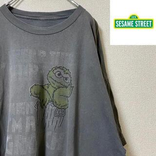 セサミストリート(SESAME STREET)の【セサミストリート】オーバーサイズデザインTシャツ オスカー ゆるだぼ 古着男子(Tシャツ/カットソー(半袖/袖なし))