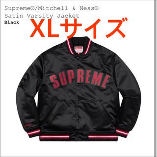 Supreme - Supreme Mitchell Ness Satin Varsity XL黒