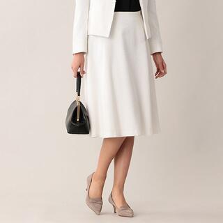 マッキントッシュ(MACKINTOSH)の新品 マッキントッシュ ラスタートリアセテートスカート  38 白 36300円(ひざ丈スカート)