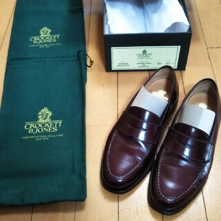 Crockett&Jones - CROCKET&JONES BOSTON ローファー バーガンディ 6.5