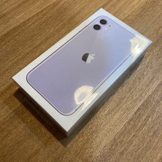iPhone - 【新品未開封】iPhone 11 パープル 128 GB SIMフリー