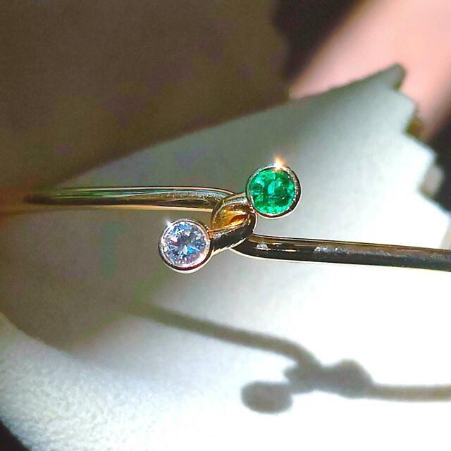 Tiffany & Co.(ティファニー)のGW直前セール!ティファニー❤️内径18cmダイヤ・エメラルド・ゴールドバングル レディースのアクセサリー(ブレスレット/バングル)の商品写真