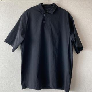 COMOLI - 20SS TEATORA テアトラ ポロシャツ ブラック サイズ3