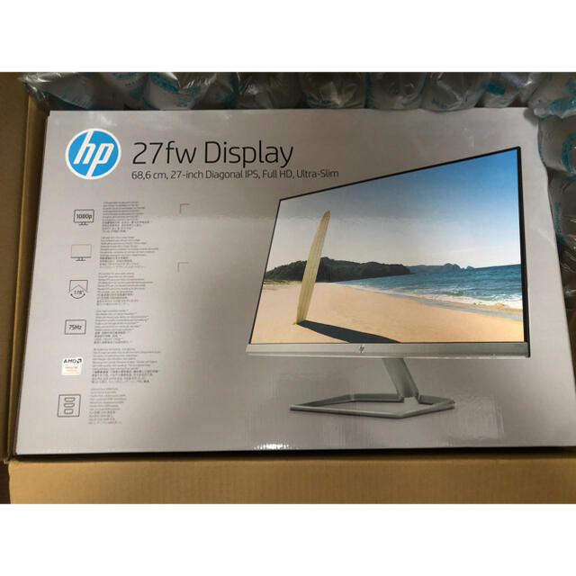HP 27fw 27インチ ディスプレイ(ホワイト) スマホ/家電/カメラのPC/タブレット(ディスプレイ)の商品写真
