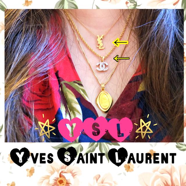 Saint Laurent(サンローラン)のYSL イブサンローラン サンローラン💕2点おまとめ💕K18ネックレス レディースのアクセサリー(ネックレス)の商品写真