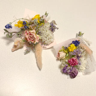 ドライフラワー 春色スワッグ 52 ブーケ 花束 インテリア(ドライフラワー)