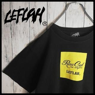 【希少デザイン】LEFLAH ボックスロゴ クルーネックTシャツ サイズL(Tシャツ/カットソー(半袖/袖なし))