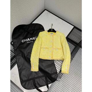 CHANEL - CHANEL春先の新しい黄色のツイードジャケット