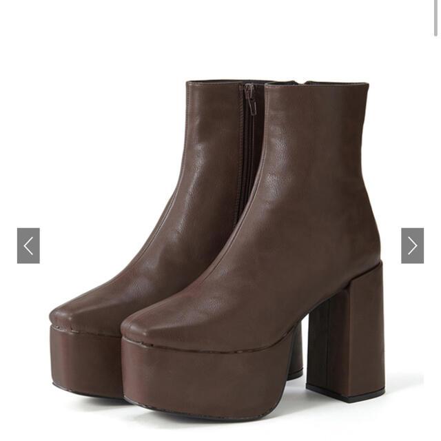 GRL(グレイル)のGRL スクエアトゥ太ヒールショートブーツ[zr664]   レディースの靴/シューズ(ブーツ)の商品写真