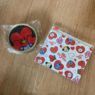 BT21 バレンタイン スパークスラウンド缶 ラムネ入り スライダーポーチ (アイドルグッズ)