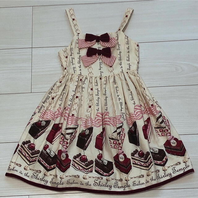 Shirley Temple(シャーリーテンプル)のケーキ 110 オフ白 キッズ/ベビー/マタニティのキッズ服女の子用(90cm~)(ワンピース)の商品写真