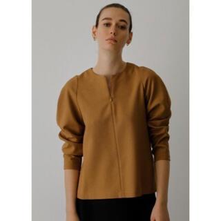 エンフォルド(ENFOLD)のリムアーク Round sleeve tops ネイビーサイズ36(シャツ/ブラウス(長袖/七分))