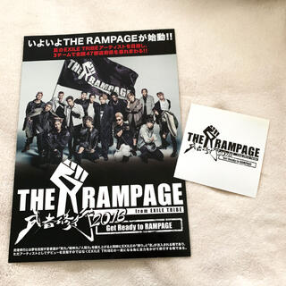 THE RAMPAGE - THE RAMPAGE 武者修行 2016 フライヤー&ステッカー
