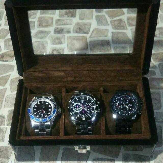 TECHNOS(テクノス)のTECHNOS SEKONDA ROSRAメンズ腕時計ケースセット メンズの時計(腕時計(アナログ))の商品写真