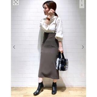 スピックアンドスパンノーブル(Spick and Span Noble)のNoble♡ショルダーストラップサロペットスカート(ロングスカート)