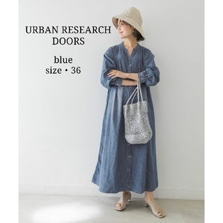 DOORS / URBAN RESEARCH - 《美品》アーバンリサーチドアーズ デニムスリーブライトデニムワンピース