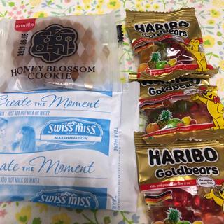 コストコ(コストコ)のハリボーグミ3袋 ハニーブロッサムクッキー1個 マシュマロ入りココア1袋(菓子/デザート)