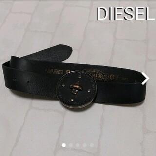 DIESEL - DIESEL ベルト 黒 ボタン