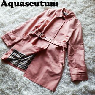 アクアスキュータム(AQUA SCUTUM)のアクアスキュータム Aquascutum トレンチコート ステンカラーコート美品(トレンチコート)