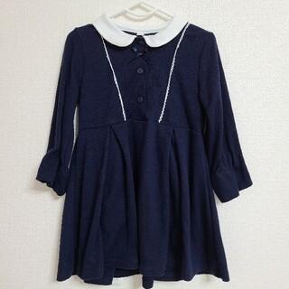 ニシマツヤ(西松屋)のフォーマルワンピース 110 ネイビー(ドレス/フォーマル)