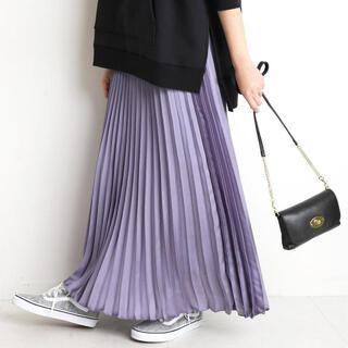 IENA - 新品・タグ付き*SLOBE IENA サテン プリーツ スカート*パープル