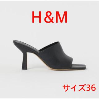 H&M - 【新品未使用タグ付き】H&M スクエアトゥサンダル 36 ブラック
