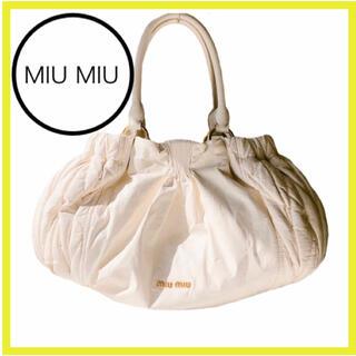 miumiu - ミュウミュウ バッグ ハンドバッグ  トート ショルダーバッグ レザー ギャザー