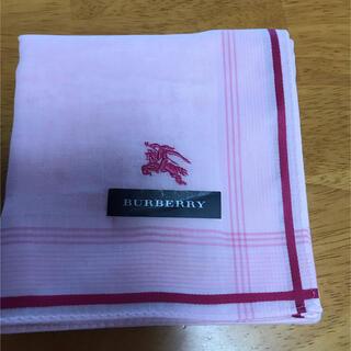 バーバリー(BURBERRY)のBURBERRY バーバリー ハンカチ ホースマーク刺繍♡ ピンク(ハンカチ)