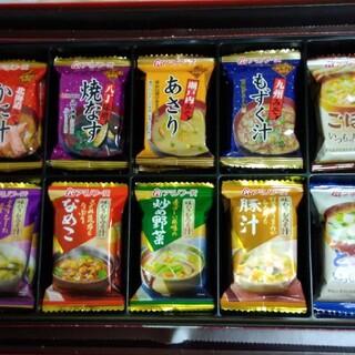 アサヒ(アサヒ)のアマノフーズ フリーズドライお味噌汁10食(箱無しです)(インスタント食品)