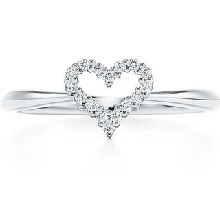 Tiffany & Co. - 新品未使用 ティファニー  ハート  ダイヤ リング  プラチナ