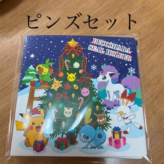 ポケモン - ポケモンデコキャラシール ホルダー・ポケモンピンズセット